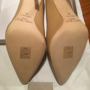 5929e83c3652 Jimmy Choo Shoes - Never worn Jimmy Choo Romy 100 Nude KID size 36